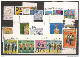 1975 Turchia Turkey 9 Serie MNH**: Michel 2347-54, 2357-65, 2374-82 - 1921-... Republic