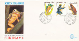 DC0071 SURINAM FDC 1981 - FROGS - Frogs