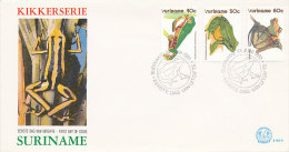 DC0072 SURINAM FDC 1981 - FROGS - Frogs