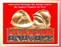 SUPER PIN´S POMPIERS : L'ANACAPP, Association Des Cadres Sapeurs Pompiers De Paris Signé PICHARD - Pompiers