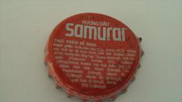 Vietnam Samurai / Energy drink of Coca Cola / used beverage bottle crown cap / Kronkorken / Capsule
