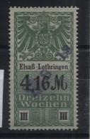 TIMBRES FISCAUX / SOCIO POSTAUX / ALSACE LORRAINE / N° 31 / 13 SEMAINES - Revenue Stamps
