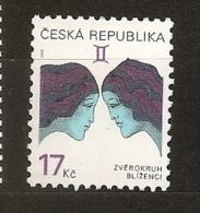 République Tchèque 2002 N° 305 ** Courant, Signe Du Zodiaque, Astrologie, Gémeaux, Femmes - Tsjechië
