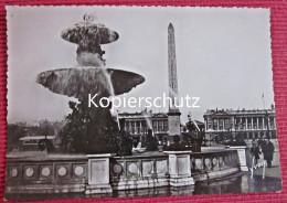 Ansichtskarte Foto Postkarte Um 1940 Frankreich Paris En Flanant Place De La Concorde Brunnen - Plätze