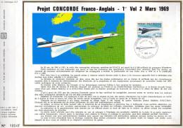 Feuillet Tirage Limité CEF 88 Aviation Avion Concorde - France