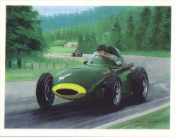 ´History Of Motor Racing´ Carte De Collection -  Vanwall  -  1958  -  Illustrateur Graham Turner - Automobile - F1