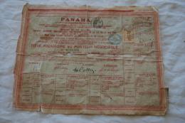 TITRE PROVISOIRE AU POTEUR DE LA CIE UNIVERSELLE TRANSOCEANIQUE DU CANAL DE PANAMA - Actions & Titres