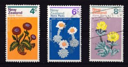 New Zealand 1972 Alpine Plants 3 Values Used - New Zealand