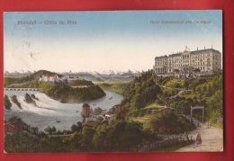 CDS6-07 Rheinfall Chutes Du Rhin, Hotel Schweizerhof, Litho. Neuhausen 1914 Nach Grabs - SH Schaffhouse