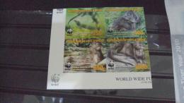 (WWF-375) W.W.F. Ivory Coast Otter 1st Print ERROR MNH Imperf Stamps 2005 - W.W.F.