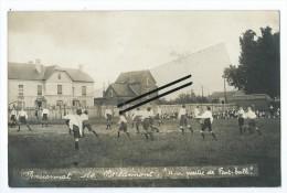 """Carte Photo - Pensionnat De Berlaimont """" Une Partie De Foot-Ball"""" - Berlaimont"""