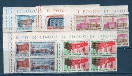 Italia / Italy  1961 - 100° UNITA D'ITALIA  IN QUARTINA   -- ** MNH / VF / BDF - 6. 1946-.. Repubblica