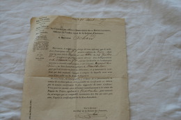 CERTIFICAT D INSCRIPTION DE PENSION MILITAIRE  DU 10 AOUT 1837 - Dokumente