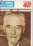 Le Journal De La France Les Années 40 N° 209  L'interim Paul Ramadier - French