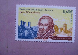 ANDORRE 2012 HISTOIRE HENRY IV NEUF FRENCH ANDORRA ENRIQUE IV MNH - French Andorra