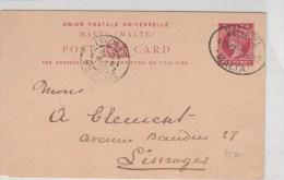 MALTA - 1902 - CARTE ENTIER POSTAL De VALLETTA Pour LIMOGES - Malta (...-1964)
