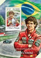st14216b S.Tome Principe 2014 Car Formula I Ayrton Senna s/s Flag