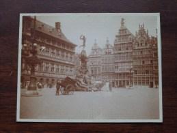 Grote Markt Met BRABO ( Kar Auto Lantaarn - Antwerpen / Op Karton ) Anno 19?? ( Zie Foto´s Voor Details ) - Lieux
