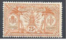 NOV-HEBRIDES  N� 34  NEUF* TB / 2 SCANS