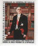 DAHOMEY PA 66 HOMMAGE AU GENERAL DE GAULLE  NEUF ** - De Gaulle (General)