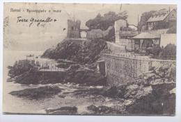 GE017 - GENOVA - NERVI - PASSEGGIATA A MARE - F.P. -  VIAGGIATA 1923 - Cartoline