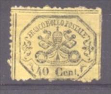 Italy Papal State 1868 Coat Of Arms 40C Mi.24 MH Space Filler AM.339 - Kerkelijke Staten