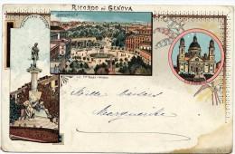 GE072 - RICORDO DI GENOVA -  - F.G. -   VIAGGIATA PRIMI 900 - Cartoline