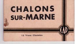 Châlon Sur Marne - Carnet De 12 CP (complet) - Châlons-sur-Marne
