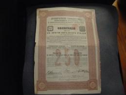 """Obligation""""Sté De Lovitch Des Produits Et Engrais Chimiques""""Varsovie 1908 Pologne Poland - Russie"""