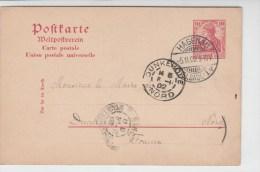 ALSACE - 1902 - CARTE ENTIER De HAGENAU (DEMANDE De RETRAIT De NATIONALITE FRANCAISE) Pour DUNKERQUE - Postmark Collection (Covers)