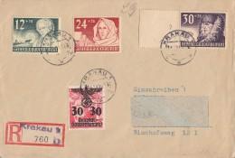 GG R-Brief Mif Minr.23,56,57,58 SR Krakau 31.12.40 - Besetzungen 1938-45