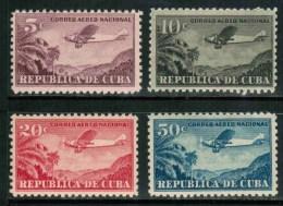 Cuba Airmail 1931-46 Scott C12-C15, Domestic Use, MNH,  Cp2 - Airmail