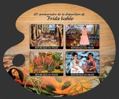 nig14121a Niger 2014 Painting Frida Kahlo s/s Fruit