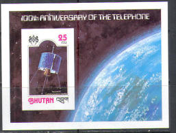 2766 Space Raumfahrt 1978 Telephone Bell Bhutan S/s MNH ** Imperf Imp Lollini 26 Euro - Space