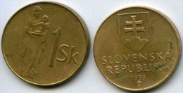 Slovaquie Slovakia 1 Koruna 1993 KM 12 - Slovaquie