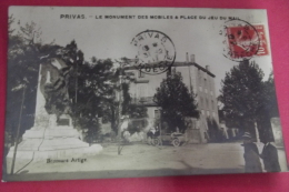 C P Privas Le Monument Des Mobiles & Place Du Jeu De Mail - Privas