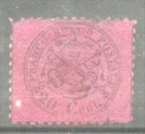 Italy Papal State 1868 Coat Of Arms 20C Mi.23b MH AM.346 - Etats Pontificaux
