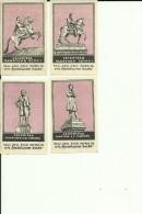 RUSSIA    ---  MATCHBOX LABELS  --  8 X LENINGRAD   --  1956 ? - Boites D'allumettes - Etiquettes