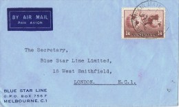 9657. Carta Aerea MELBOURNE (Australia)  1949 To London - Covers & Documents