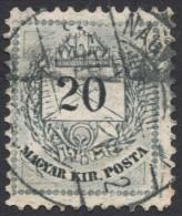 Hungary, 20 K. 1881, Sc # 22, Mi # 25A, Used (2) - Hongrie