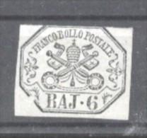 Italy Papal State 1852 Coat Of Arms 6 BAJ Mi.7a MLH AM.361 - Etats Pontificaux