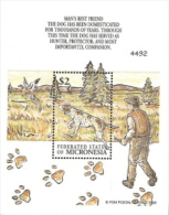 Micronesia,  Scott 2014 # C184,  Issued 1999,  S/S Of 1,  MNH,  Cat $ 3.20,  Dogs - Micronesia
