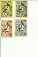 RUSSIA    ---  MATCHBOX LABELS  --  12 X  PTIC, BIRDS  --  1956 - Matchbox Labels
