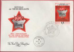 Seychelles FDC 007 - 07.11.1977 October Socialist Revolution Oktoberrevolution - Seychelles (1976-...)