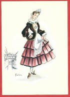 CARTOLINA NV ITALIA - COLOMBINA - Maschera Femminile Veneziana - 10 X 15 - Costumes