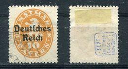 D. Reich Dienst Michel-Nr. 35 Gestempelt - Geprüft - Dienstzegels