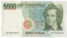 REPUBBLICA ITALIANA  L. 5000 BELLINI SERIE LD  FAZIO 1985 FDS - 5000 Lire