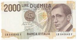 REPUBBLICA ITALIANA  L. 2000  MARCONI  SERIE LB  SPAZIALI  1990 FDS - 2000 Lire
