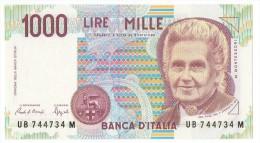 REPUBBLICA ITALIANA  L. 1000  MONTESSORI  SERIE ED  FAZIO  1990 FDS - 1000 Lire