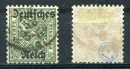 D. Reich Dienst Michel-Nr. 57 Gestempelt - Geprüft - Dienstzegels
